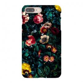 iPhone 8/7 plus  Night Garden XXX by  (flowers,nature,garden,jungle,tropical,night,vintage,retro,leaf,rose,rosegarden,botanical)