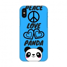 iPhone X  peace love panda by MALLIKA