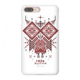 iPhone 8/7 plus  Owl Bubo Bubo Ornament by  (Ethno, Ukraine, Embroidery, Ornament, Geometry, Vyshyvanka, National, Symbol, Series, Бродівське письмо, talisman, minimal, pattern, Traditional,owl,bird,animals,bubo)