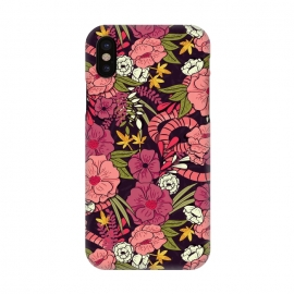 iPhone X  Jungle Pattern 001 by Jelena Obradovic