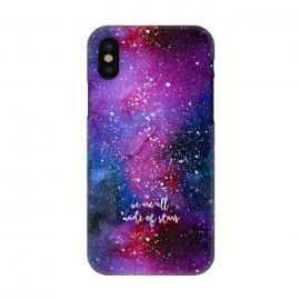 iPhone X  We are all made of stars - Galaxy by Stefania Pochesci (galaxy,space,stars,watercolor,quote)