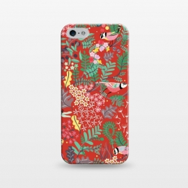 iPhone 5/5E/5s  The secret Garden - Red by Stefania Pochesci