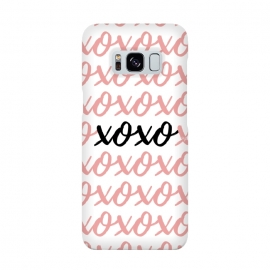 XOXO love by Martina (love,xoxo,pink,typography,words,letters,stylish,modern,feminine,abstract,valentine,valentines day)