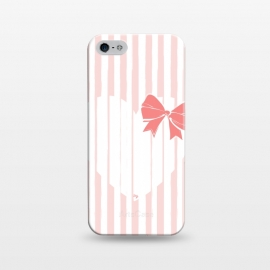 iPhone 5/5E/5s  Heart Stripes by Martina (love,heart,sweet,pink,modern,vintage,retro,bow,valentine,valentines day,stylish,feminine,stripes)