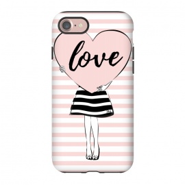 iPhone 8/7  Pink Heart Love by Martina