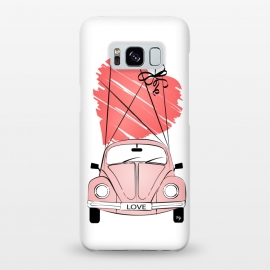 Galaxy S8+  Love Car by Martina (love,heart,valentine,valentines day,car,beetle,volkswagen,pink,pastel,feminine,girly,modern,stylish,illustration,travel,traveling)