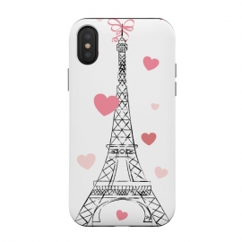 Paris Love by Martina (love,heart,valentine,valentines day,paris,france,eiffel tower,travel,traveling,europe,stylish,illustration,feminine,girly)