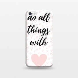 Everything with love by Martina (love,heart,valentine,valentines day,pink,typography,stylish,feminine,quote,pattern)