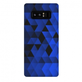 Galaxy Note 8  Triangles Wave by  (Geometric,Tirangles,Triangle,math,Minimal,Minimalistic,Blue,Pattern)