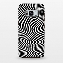 Galaxy S8 plus  Illusion Waves 3 by  (Zebra,Black and White,texture,pattern,minimal,Minimalistic,lines)