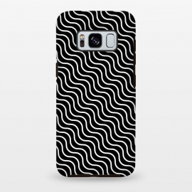 Galaxy S8 plus  Illusion Waves by  (Texture, Pattern, Geometry, Vector, Digital art, geometric, Minimal, Minimalistic,Cover,Waves,Black and White)
