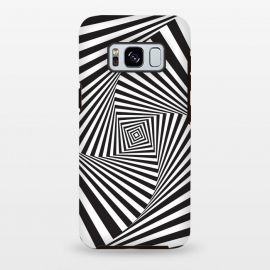Galaxy S8+  Illusion Hole 2 by Sitchko Igor (Texture, Pattern, Geometry, Vector, Digital art, geometric, Minimal, Minimalistic, cover,Black and white, lines, illusion)