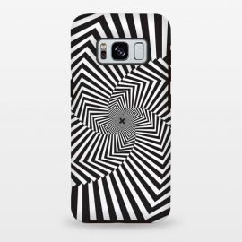 Galaxy S8+  Illusion Hole by Sitchko Igor (Texture, Pattern, Geometry, Vector, Digital art, geometric, Minimal, Minimalistic,cover,Black and white, lines, illusion)