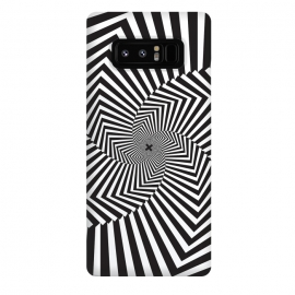 Galaxy Note 8  Illusion Hole by Sitchko Igor (Texture, Pattern, Geometry, Vector, Digital art, geometric, Minimal, Minimalistic,cover,Black and white, lines, illusion)