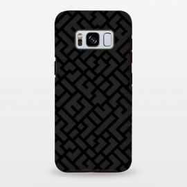 Galaxy S8+  Black Labyrinth by Sitchko Igor (Texture, Pattern, Geometry, Vector, Digital art, geometric, Minimal, Minimalistic, cover)