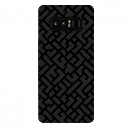 Galaxy Note 8  Black Labyrinth by Sitchko Igor (Texture, Pattern, Geometry, Vector, Digital art, geometric, Minimal, Minimalistic, cover)