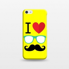 iPhone 5C  I Love Moustache by Dhruv Narelia