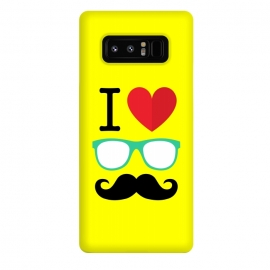 Galaxy Note 8  I Love Moustache by Dhruv Narelia
