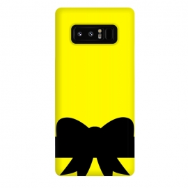 Galaxy Note 8  black bow pattern by MALLIKA