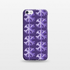 iPhone 5C  Ultra Violet Fluffy Snowflake Pattern by Boriana Giormova