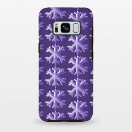 Galaxy S8 plus  Ultra Violet Fluffy Snowflake Pattern by