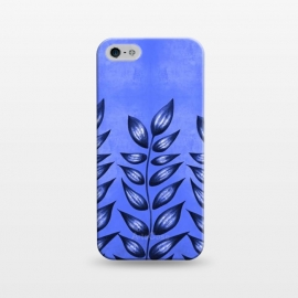 iPhone 5/5E/5s  Beautiful Decorative Blue Plant With Pointy Leaves by Boriana Giormova