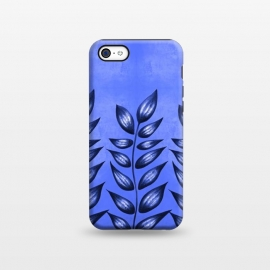 iPhone 5C  Beautiful Decorative Blue Plant With Pointy Leaves by Boriana Giormova