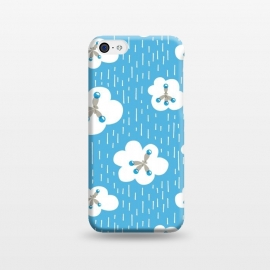 iPhone 5C  Clouds And Methane Molecules Blue Chemistry Geek by Boriana Giormova
