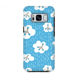 Galaxy S8  Clouds And Methane Molecules Blue Chemistry Geek by Boriana Giormova