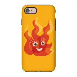 iPhone 8/7  Happy Burning Fire Flame Character by Boriana Giormova