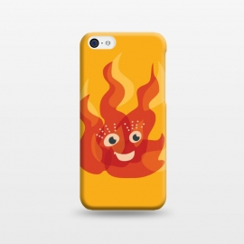 iPhone 5C  Happy Burning Fire Flame Character by Boriana Giormova