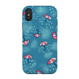 Fun Raining Cartoon Umbrella Pattern by Boriana Giormova