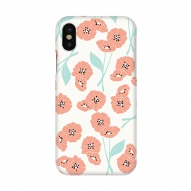 iPhone X  Delicate Flowers White by Jelena Obradovic