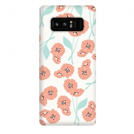 Galaxy Note 8  Delicate Flowers White by Jelena Obradovic