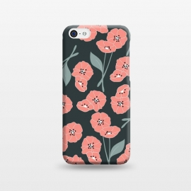 iPhone 5C  Delicate Flowers Dark by Jelena Obradovic