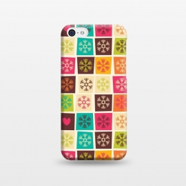 iPhone 5C  Snowflakes and Hearts by Jelena Obradovic