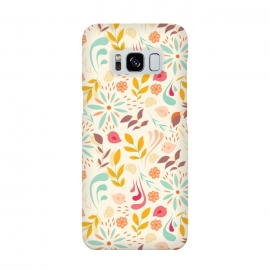 Birds and Flowers Beige by Jelena Obradovic