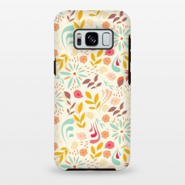 Galaxy S8 plus  Birds and Flowers Beige by