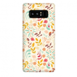 Galaxy Note 8  Birds and Flowers Beige by Jelena Obradovic