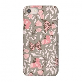 iPhone 8/7  Romantic Butterflies Gray by Jelena Obradovic