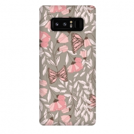 Galaxy Note 8  Romantic Butterflies Gray by Jelena Obradovic