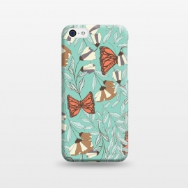 iPhone 5C  Romantic Butterflies Blue by Jelena Obradovic
