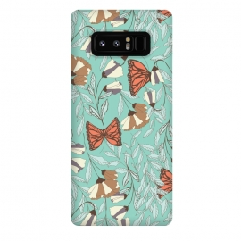 Galaxy Note 8  Romantic Butterflies Blue by Jelena Obradovic