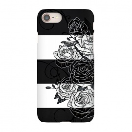 iPhone 8/7  Inverted Roses by Nicklas Gustafsson (rose,roses,flower,flowers,swirls,leaf,leaves,striped,stripes,black and white,tattoo,inverted,classic)