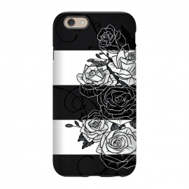 iPhone 6/6s  Inverted Roses by Nicklas Gustafsson (rose,roses,flower,flowers,swirls,leaf,leaves,striped,stripes,black and white,tattoo,inverted,classic)