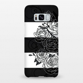 Galaxy S8+  Inverted Roses by Nicklas Gustafsson (rose,roses,flower,flowers,swirls,leaf,leaves,striped,stripes,black and white,tattoo,inverted,classic)