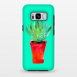 Galaxy S8 plus  Potted Succulent  by  (succulent,texture,plant,botanical,red,pink,greenery,tropical,desert)