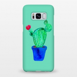 Galaxy S8+  Mini Cactus  by Amaya Brydon (cacti,cactus,plant,botanical,green,flower)