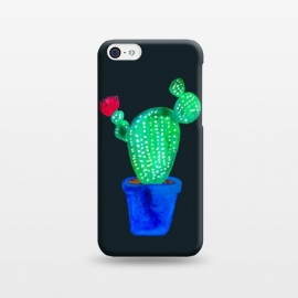 iPhone 5C  Red Flower Cactus by Amaya Brydon (cactus,cacti,botanical,floral,plant,red,pink,plants,green)