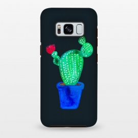 Galaxy S8 plus  Red Flower Cactus by  (cactus,cacti,botanical,floral,plant,red,pink,plants,green)